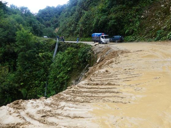 Un glissement de terrain, quelques heures avant mon passage