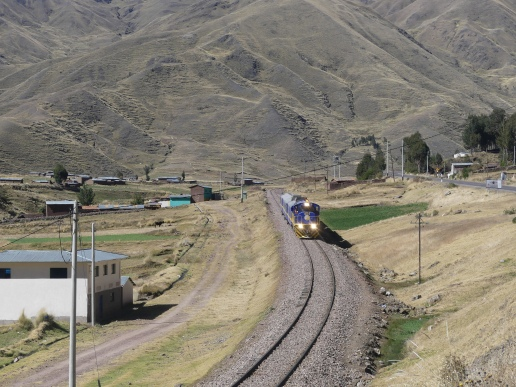 Un des rares trains d'Amérique du Sud