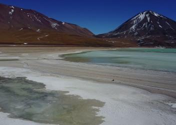 Passage entre les lagunas Verde et Blanca